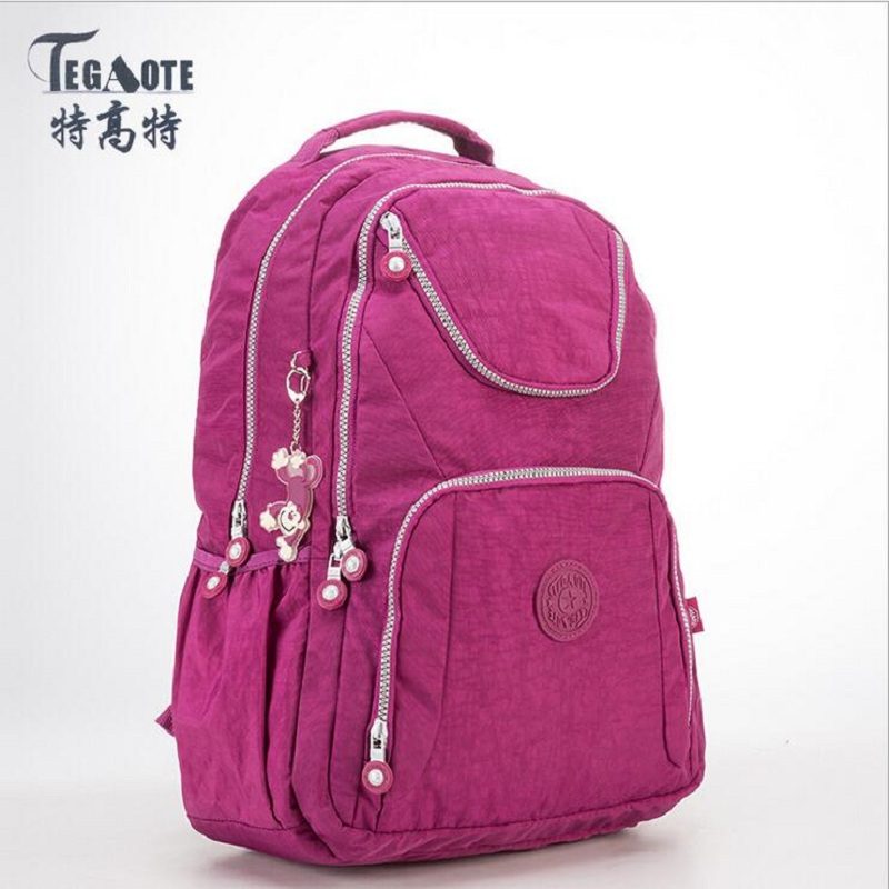TEGAOTE Small Backpack for Teenage Girls Mochila Feminina Women Backpacks Female Solid Nylon Casual Travel Bagpack Sac A Dos bag tegaote nylon waterproof school backpack for girls feminina mochila mujer backpack female casual multifunction women laptop bag
