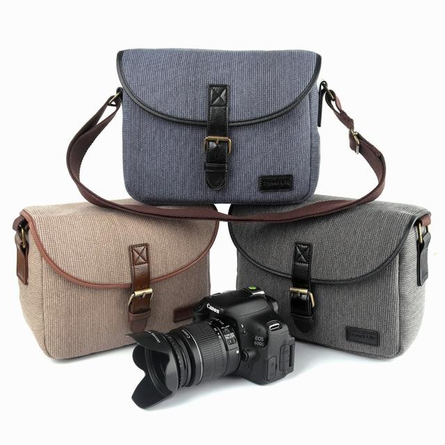Retro Dslr Camera Bag Shoulder For Canon Nikon Sony Alpha Panasonic Fujifilm Olympus