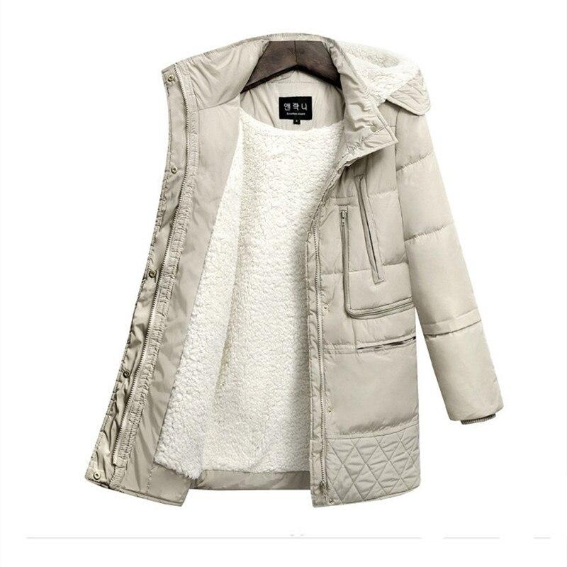 Femmes D'hiver Vêtements Long Chaud Européenne Manteau Survêtement Quatre Mode blanc Noir Couleur Épaississent 2017 aqEx0wvq