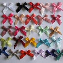 50/100 шт; большие размеры 35-45 мм атласные банты атласные декорации Луки Галстуки бабочки для куклы, аксессуары для волос, вы можете выбрать цвета слишком