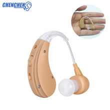 Cheap Hearing Aid Behind Ear Rechargeable Aparelho Auditivo Digital Sound Amplifier BTE Hearing Aids Ear Care все цены