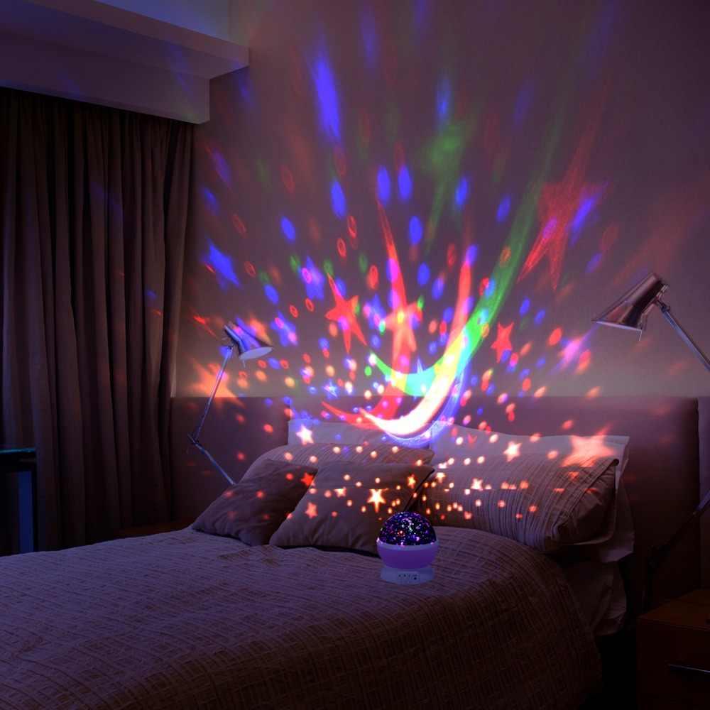 Dropshipping 360 Rotating Galaxy Galaxy Lampe Romantische Kosmos Sterne Mond Himmel Projektor Entspannende Schlafzimmer Lampe Fur Kinder Baby Led Nachtlichter Aliexpress