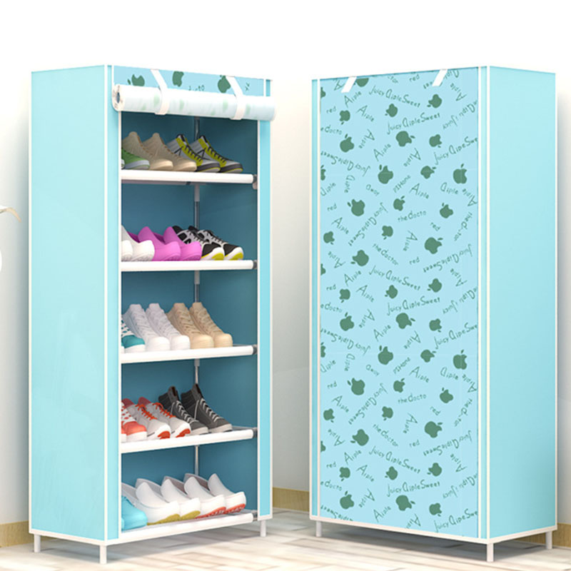 Image 4 - Maple Leaf Candy Color Shoe Racks Cabinet Shoes Rack Space Saver Boot Organizer Shelf Home Furniture DIY Assembly Non woven-in Shoe Cabinets from Furniture