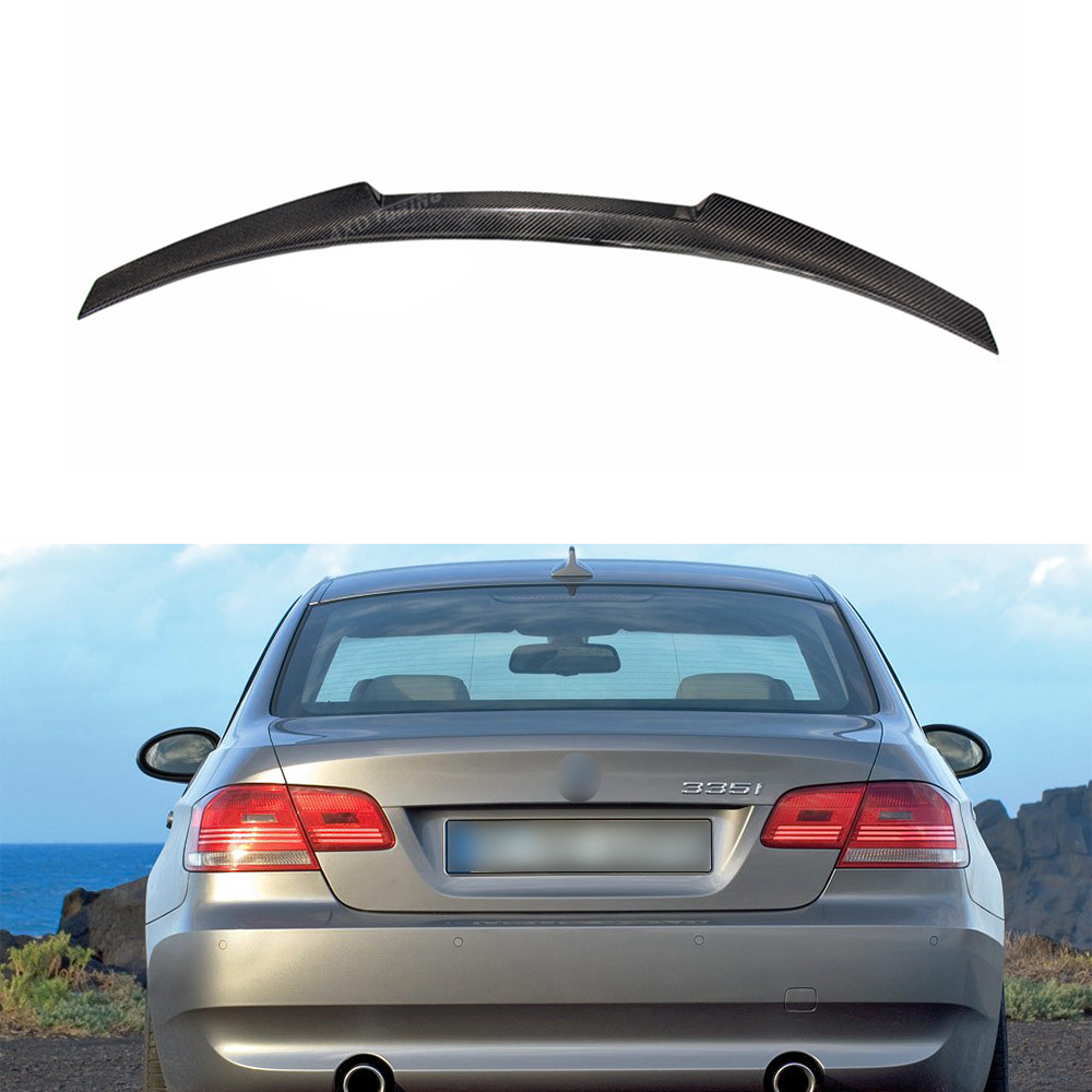 For BMW E92 Spoiler New M4 Style 3 Series E92&E92 M3 Carbon Fiber Rear Spoiler car Rear Bumper Trunk Wing Coupe 2-Door 2005-2012 for bmw e92 carbon fiber spoiler p style 3 series e92 & e92 m3 carbon fiber rear spoiler rear trunk wing coupe 2 door 2005 2012