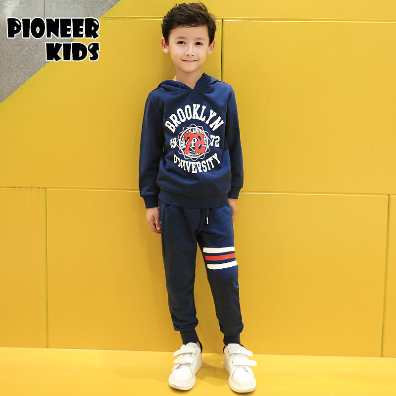 Pioneer Kids 2017 New Arrivals Kids Clothes Baby Boy Clothing Set Girls Clothing Sets Boys Spring&Autumn Sports Suit Sport Suit lavla2016 new spring autumn baby boy clothing set boys sports suit set children outfits girls tracksuit kids causal 2pcs clothes