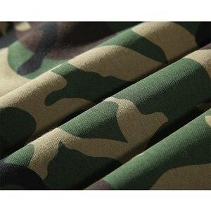 Image 3 - Армейский зеленый Камуфляжный свитер с капюшоном, зимний мужской Камуфляжный флисовый пуловер, толстовка с капюшоном в стиле хип хоп, хлопковая уличная одежда, 2019