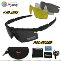M 2.0 Balísticos Táticos Quadro óculos Polarizados óculos de sol óculos de Airsoft Militar Do Exército Combate Wargame Paintball tiro óculos