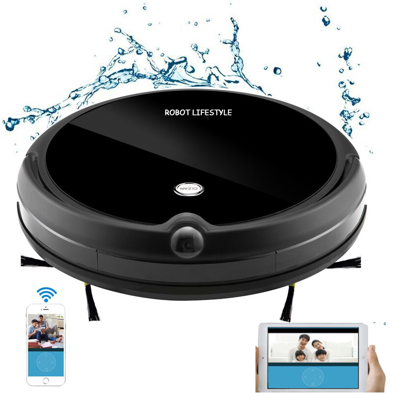 Robot Vacuum Cleaner HD Camera Smart Memory Video Call Navigation Mapping and Resume Smartphone App Control Auto image