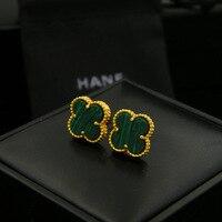 Four Leaf Clover Stud Green Earrings Jewelry For Women