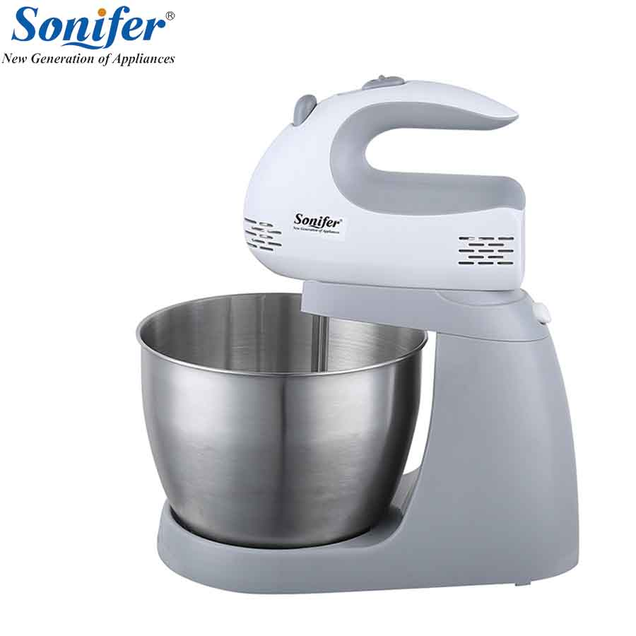 все цены на 200W Multifunction Table Electric Food Mixers Dough Mixer Egg Beater 220v Food Blender for Kitchen Sonifer онлайн