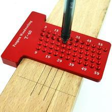 T60 t-образная линейка, измерительный инструмент для маркирования древесины штриховая строчка