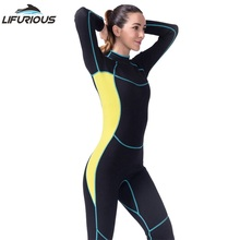 Lifurious Neoprenos para Natación mujeres neopreno manga larga jumpsuit  snorkeling bañadores Neoprenos s mujeres Surf spearfishi. 87ce9cb96ed