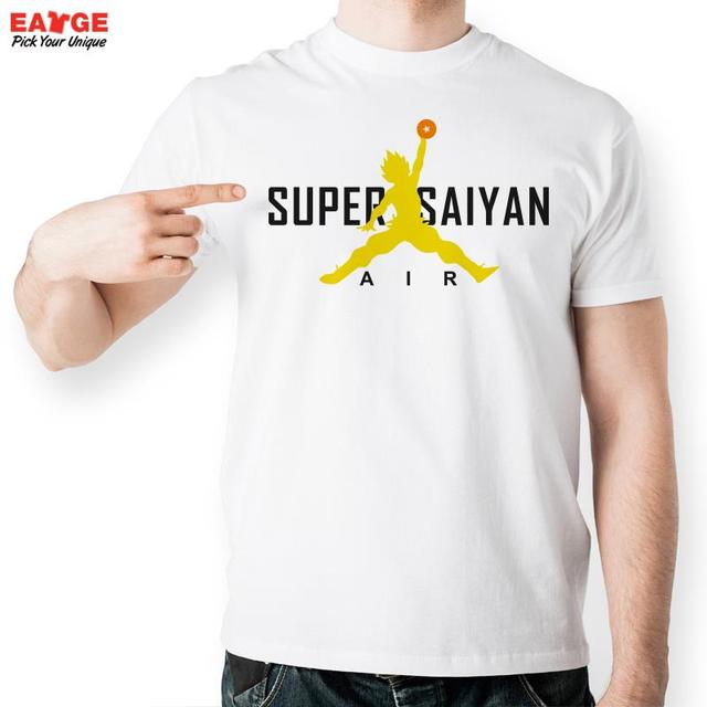 Super Saiyan Air Playing Ball T Shirt Design Japanese Anime T ...