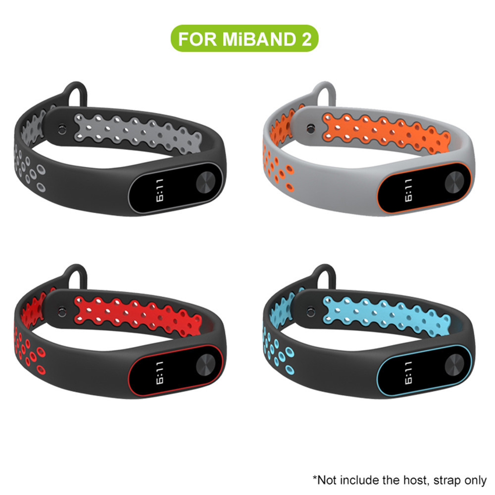 Купить с кэшбэком Mijobs mi band 2 strap Bracelet xfor Xiaomi Mi Band 2 Sport wrist strap Colorful Silicone Replacement Wristband Band miband 2