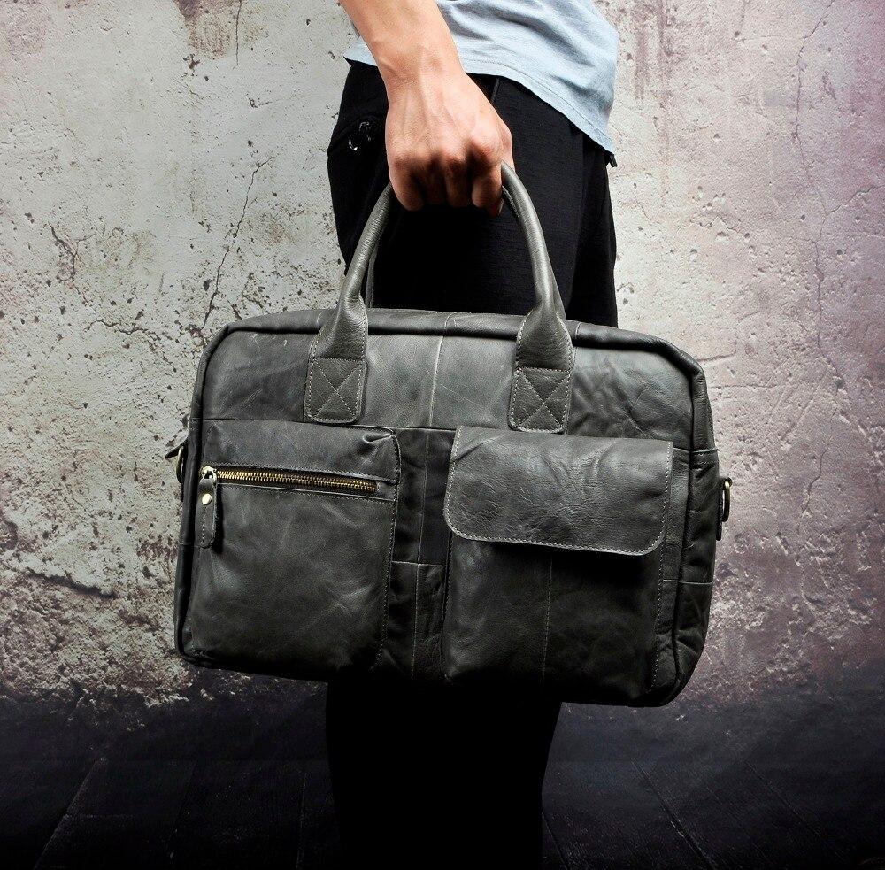 Celarence Verkauf Echt Leder Manner Mode Handtasche Business