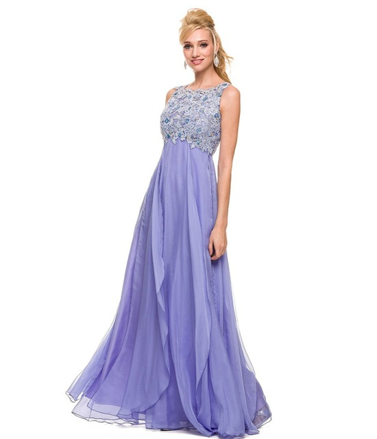 Light Purple Prom Dresses Girl Lovely Club Long Prom Party Gown Keyhole  Back Lace Appliques Vestidos De Noiva Prom Dresses 2016 f770b18f3509