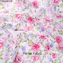 Метр ткань хлопок саржа швейная ткань роза цветочные ткани дизайн текстильная ткань Tecido лоскутное постельное белье стеганое жир четверть