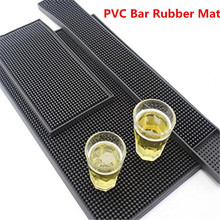 45CM Bar Rubber Mat PVC Pad Coaster Placemat Bar Service Rectangle Mat Service of  Bar Beer Whiskey Waterproof Bar Accessories bar