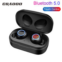 CBAOOO X118 TWS Bluetooth Earphones 5.0 Mini Sport Wireless Headset Stereo Bass Earbuds Touch control with charging earphone