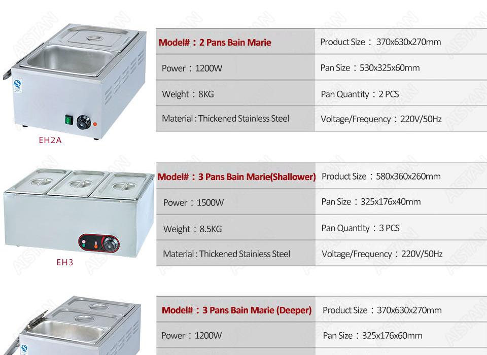 EH1A electric bain marie food warmer machine for hotel and restaurant 16