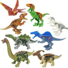 8pcs/set Jurassic World Dinosaurs Tyrannosaurus fit park city Figures Building Blocks bricks Kids diy Toy