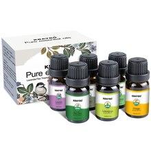 Эфирное масло для диффузора, ароматерапии масла увлажнитель 6 видов аромат лаванды, чайного дерева, розмарина, лемонграсса, оранжевый