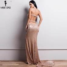Missord 2018 Sexy Bra Off Shoulder Sequin Dresses Female Backless High  Split Maxi Elegant Party Dress Vestdios FT18391-1 21ae4be001d5