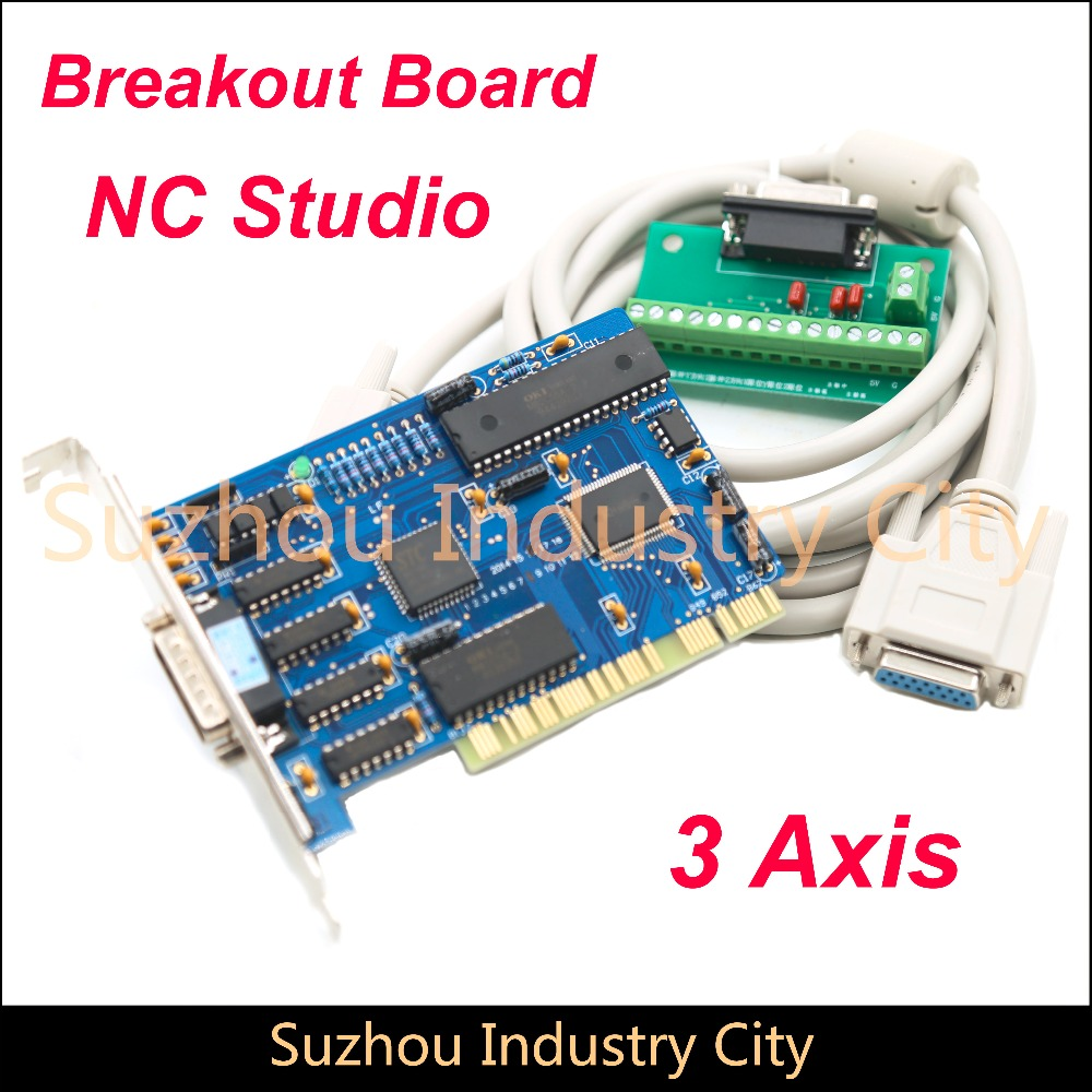CNC NCstudio NC Studio Control Board 3 Axis PCI Motion Card Controller For Cutting Milling Interface