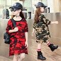 Camisetas de las muchachas embroma la camiseta chica tops ropa de algodón adolescente camiseta de manga larga para niños otoño primavera moda para 3 ~ 14 años MC40