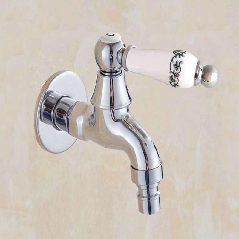 ポリッシュクロームウォールマウントガーデン洗濯機水タップ蛇口真鍮モッププールシンク蛇口水タップ KD086