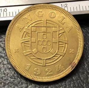 1924 Angola 5 Centavos Brass Coin Copy(China)
