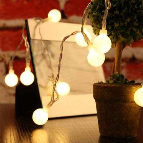 2/3/4/5/10M LED Ball String Light AA Battery Operated 10 20 LED Fairy Lights For Christmas Tree Wedding Party Decor
