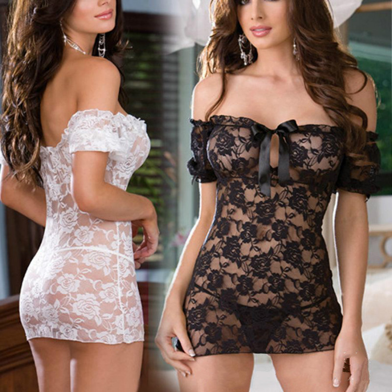 <font><b>2017</b></font> New Ladies <font><b>Women's</b></font> <font><b>Sexy</b></font> <font><b>Babydoll</b></font> Dress Sleepwear <font><b>Lingerie</b></font> <font><b>Underwear</b></font> + G-strings Free Size image