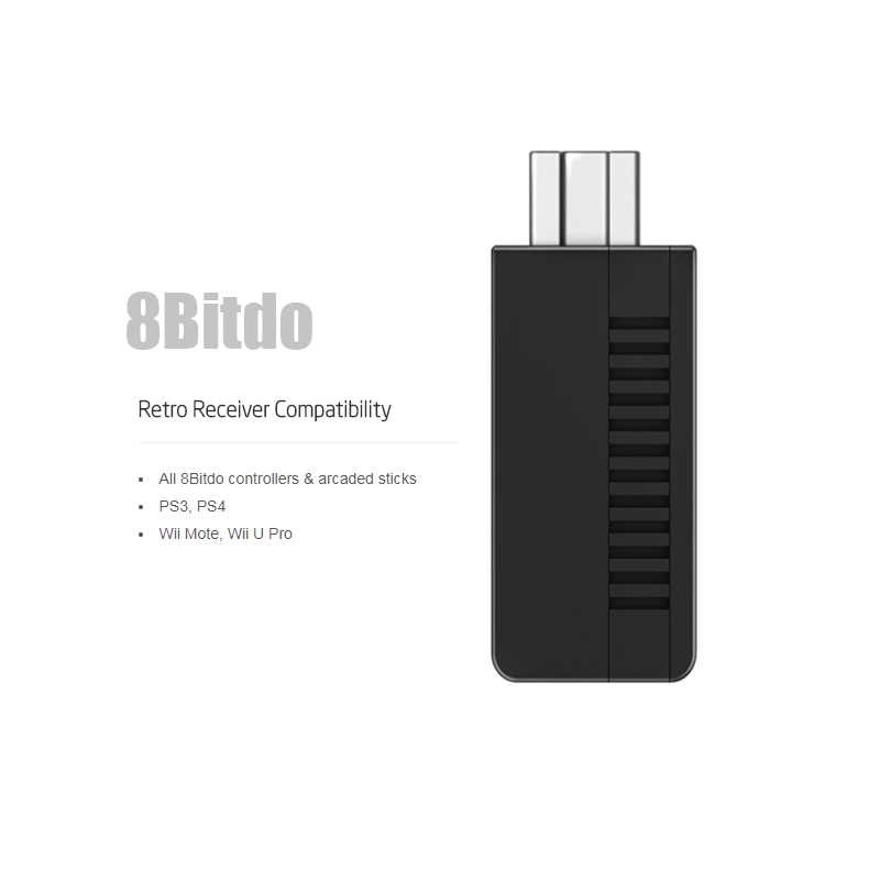 8Bitdo Retro Receiver for Mini NES Classic Edition (Bluetooth) Adapter Support PS4/PS3/Wii Mote Gamepad All 8Bitdo contrller surprise wireless gamepad for wii remote controller for nintendo for wii for w ii u 5 colors for choice
