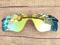 24 К Золотой Зеркало Поляризованных Сменные Линзы Для RadarLock Путь Солнцезащитные Очки Кадров 100% UVA и UVB Защиты