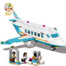 Heart Lake City private airport 41100 236pcs Building Blcok set Brick compatible 10545 Toys for children Gift