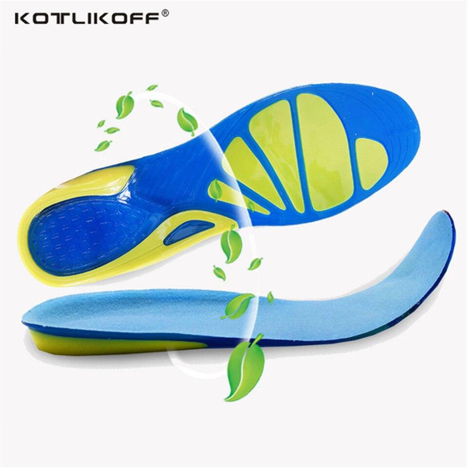 KOTLIKOFF ortopédicos Gel Pad plantillas de silicona almohadillas único gel pad hombres plantilla mujeres plantilla niño plantilla zapatos accesorios de