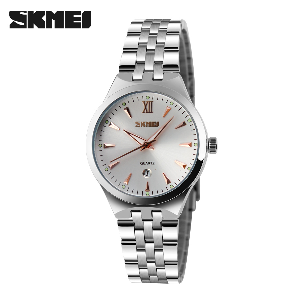 b1a4bfdad20 SKMEI Quartz Watch Women Fashion Casual Watches Relogio Feminino Montre  Femme Reloj Mujer Full Steel Waterproof Wristwatches