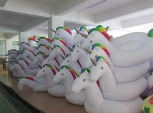 20 pcs lot Selling HOT 270cm 106 inch Giant Inflatable Rainbow font b Unicorn b font