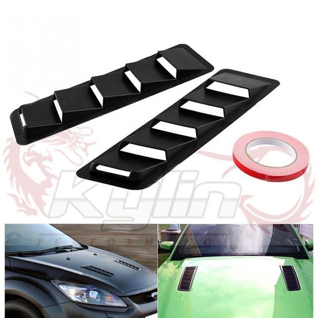 Universal Dekoratif Hood Vent Pasang Ventilasi Udara Asupan Scoop Bonnet  Kisi-kisi Spoiler Trim ABS b4866589c9