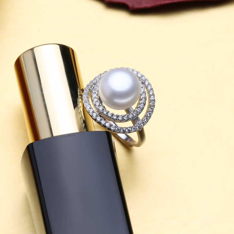 FENASY обручальное кольцо, кольца из натурального жемчуга для женщин, новый пресноводный жемчужное Ювелирное кольцо, большой размеры Винтаж кольцо модные украшения