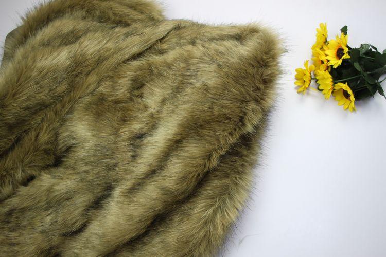 5 cm pile de fourrure jaune couleur colorant noir pointe faux tissu de fourrure - Colorant Tissu