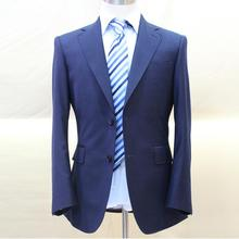 dark navy blue heavy wool flannel face man s business suit single button2 custom tailor made