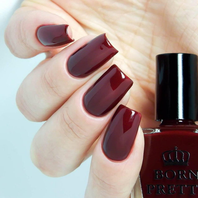 Born Pretty Garnet Red Nail Polish 10ml Long Lasting Dark Manicure Varnish