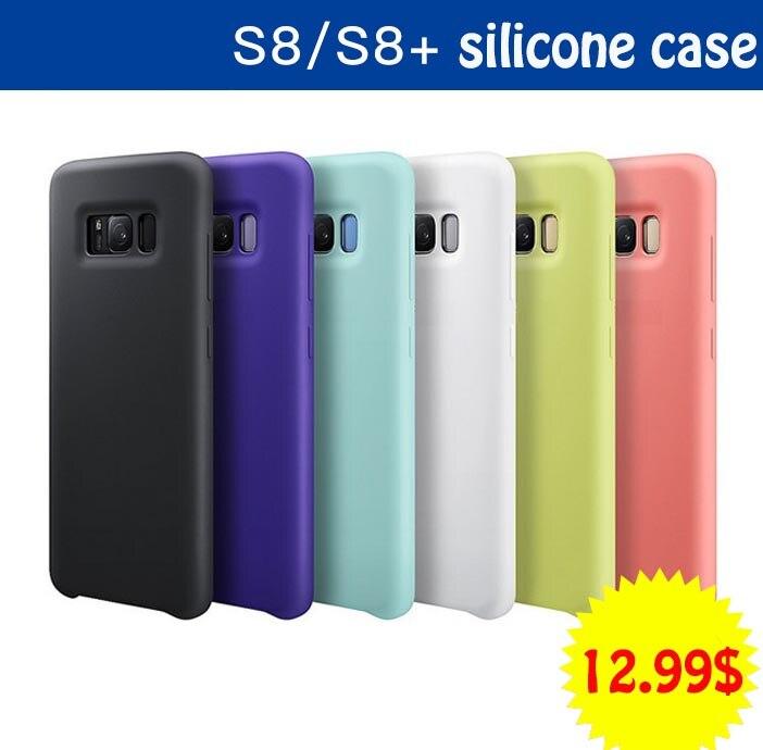 imágenes para Moda Caja Del Teléfono de Silicona Suave para Samsung Galaxy Caso de Lujo S8 marca Insignia de La Contraportada para Samsung Galaxy S8 Más Cubierta de Coque