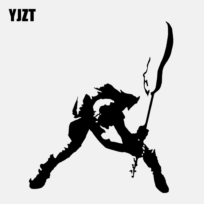 YJZT 11CM*13.1CM Personality Music Guitar Guitar Sticker Vinyl Black/Silver Car Sticker C22-0754