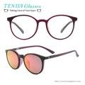 Plástico Flexible Mujeres Ronda Retro Gafas de Sol Polarizadas Clip De Gafas de Sol de Conducción Gafas De Lentes de Prescripción