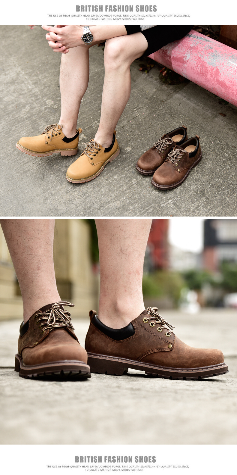 19 New Fashion Men's Genuine Leather Shoes Men Lace Up Oxford Flats Spring Autumn Comfortable Handmade Moccasins Men Shoes 12