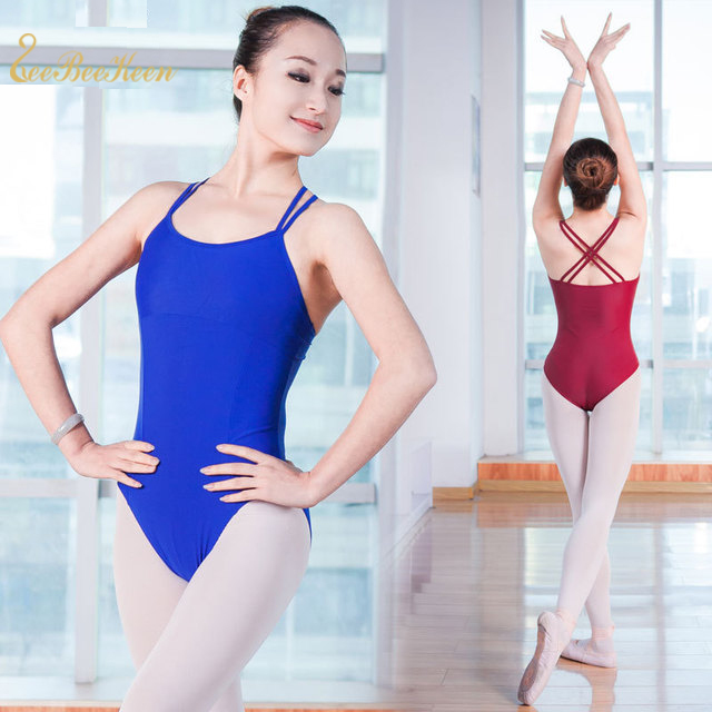 2 Strips Ballet Leotard Professional Adult Gymnastics Leotard Girls Dance Bodysuit Ballet Leotards F Women Ballet Dance Clothes