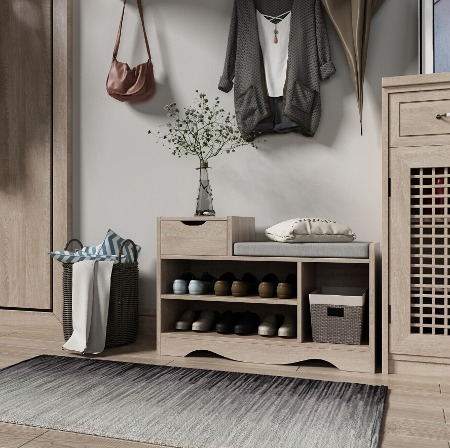 Happy Home Fashion Nordic Shoe Cabinet Change Bench Solid Wood Entry Store Creative Stool Storage Can With Cotton-Flax CushionHappy Home Fashion Nordic Shoe Cabinet Change Bench Solid Wood Entry Store Creative Stool Storage Can With Cotton-Flax Cushion